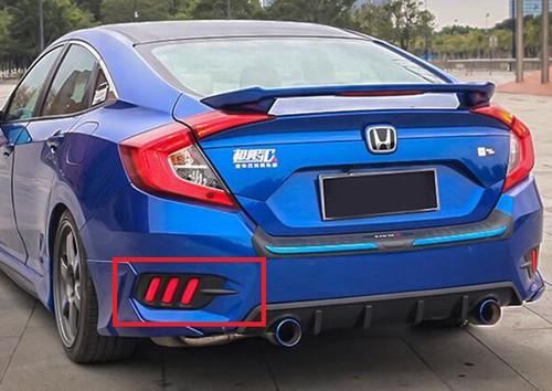 Honda Civic 2017 Rear Bumper Light Lava Style