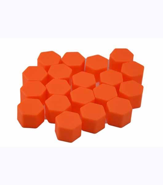 Car Styling 20pcs Silica Gel Orange Wheel Nuts Covers