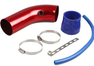 Aluminum Car Air Intake Pipe - Red/Blue