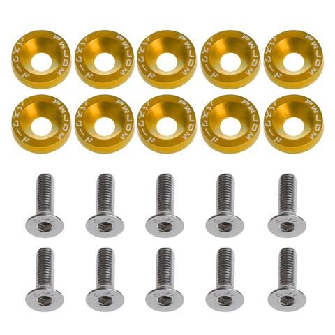 10Pcs Car Styling Universal Modification JDM Password Fender Washer - Gold