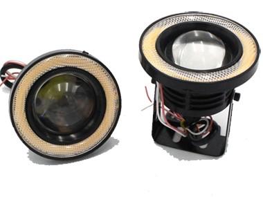 2PCS LED Fog Light Lamp Round Headlight Spotlight For Car Waterproof DRL Daytime Running Lights