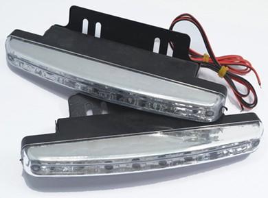 2Pcs Auto Durable Car Daytime Running Light 8 LED
