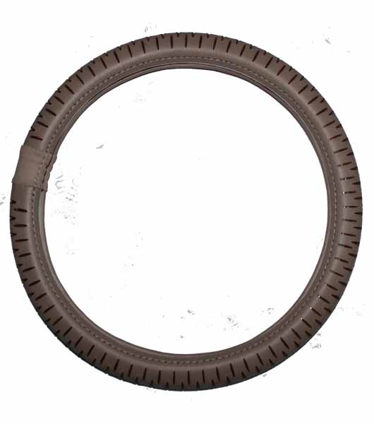 Steering Cover - Beige and Brown