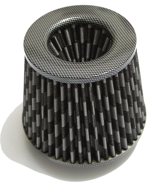 Universal Car Cold Air Intake Filter - Carbon Style