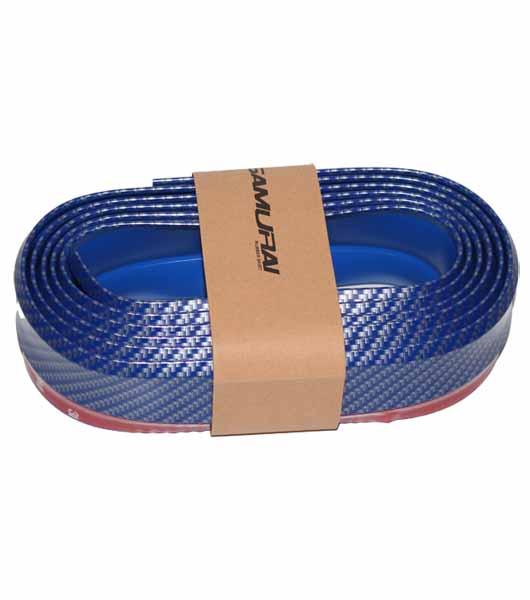 New Carbon fiber Rubber Soft bumper lip kit - Blue