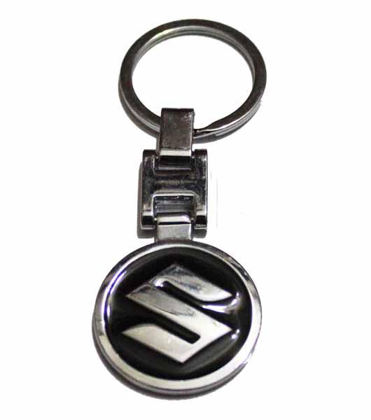Suzuki Logo Metal Keyring - Black