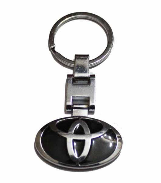 Toyota Logo Metal Keyring - Black