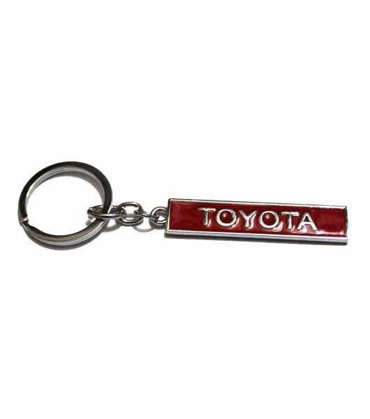 Toyota Metal Keyring - Red