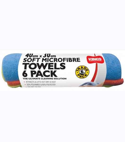 KENCO Soft Microfiber Towels 6Pcs Pack 40cm x 30cm