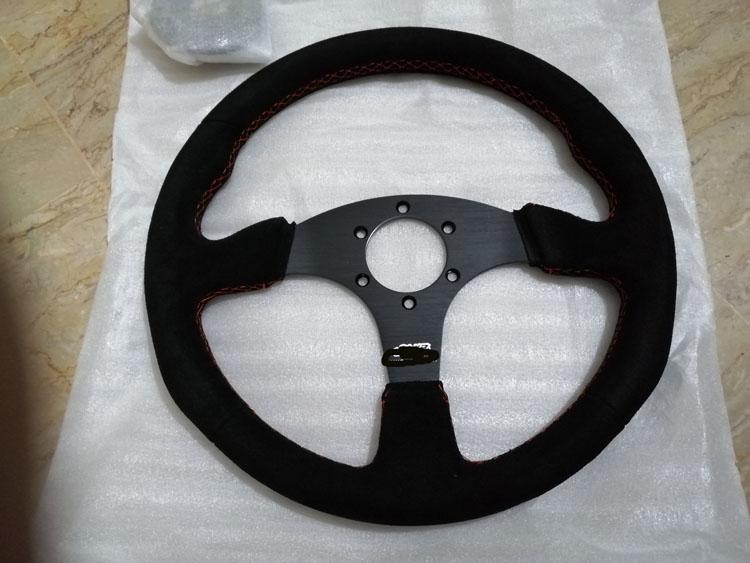 Universal Suede Steering - BLACK